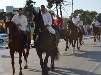 Parada cailor de la Hipodromul Mangalia. FOTO Facebook