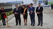 Felix Stroe, Ancuța Belu, Marius Nica și Cristinel Dragomir, la inaugurarea stației de epurare de la Mihail Kogălniceanu. FOTO Adrian Boioglu