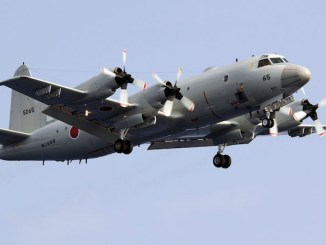Aeronava P-3C Orion ajunge la Constanța. FOTO Mass Communication Specialist 3rd Class Juan Antoine King