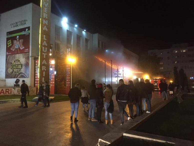 Incendiu la Culture Club din Constanța