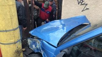 Accident pe I.C. Brătianu. FOTO Adrian Boioglu
