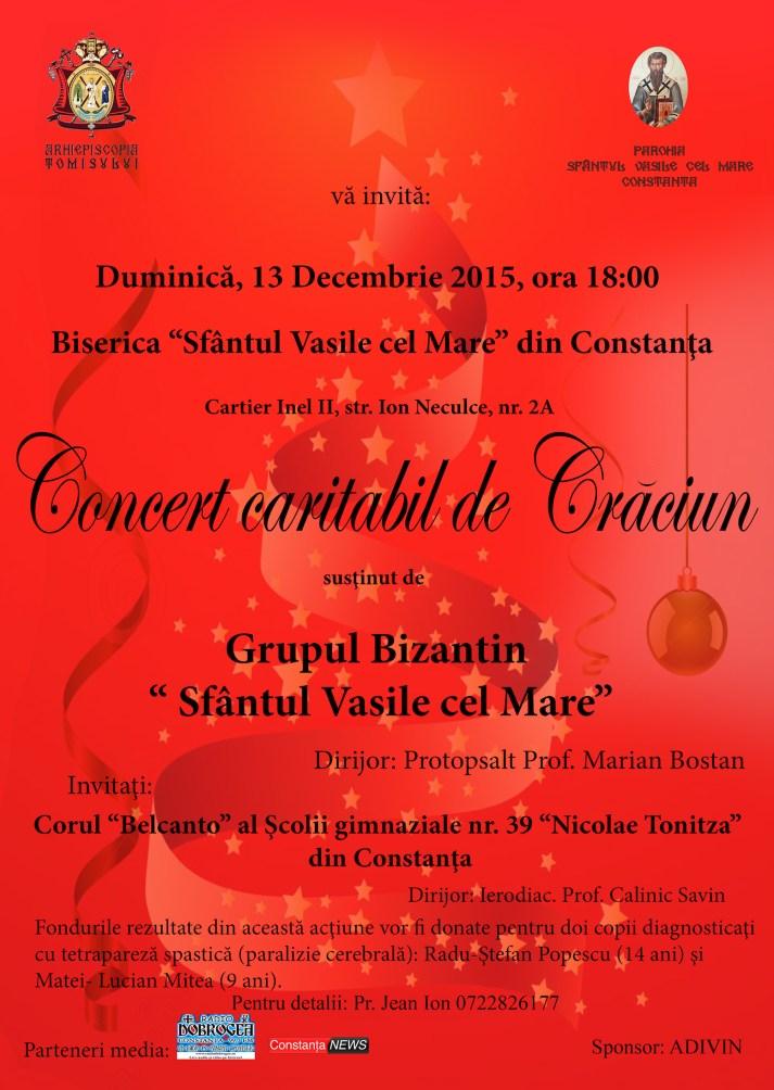 Afis Concert Caritabil de Craciun