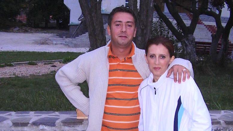 Marius și soția sa, Oana Sârbu, în urmă cu doi ani și jumătate. FOTO Facebook