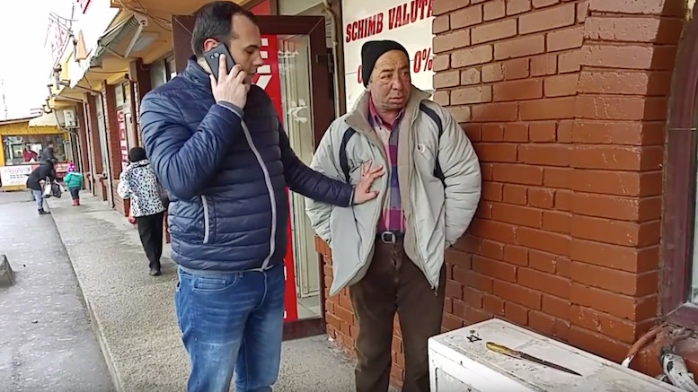 Scandalagiul prins de jandarmi. FOTO Captură video