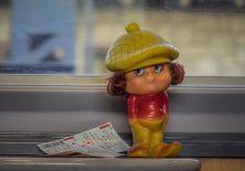 Marcel, în tren. FOTO Viorel Papu