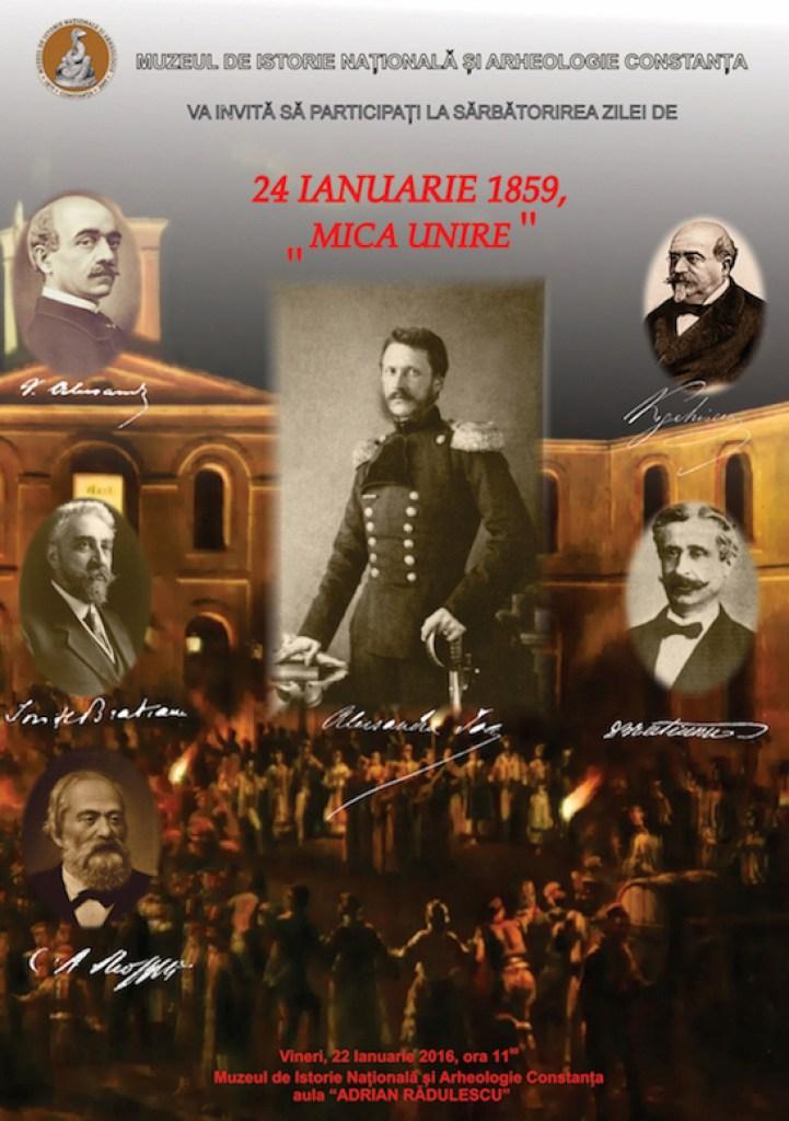 Afișul evenimentului de pe 22 ianuarie de la Muzeul de Istorie Constanța