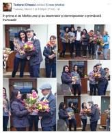 Tudorel Chesoi a oferit flori colegelor de birou