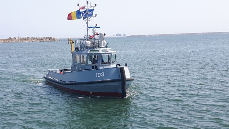 Remorcherul Vârtosul intră în serviciul Forțelor Navale Române. FOTO navy.ro