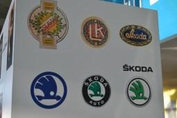Logo-urile mărcii Skoda. FOTO Adrian Boioglu
