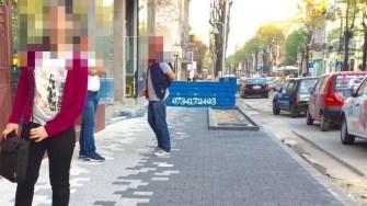 Fast-Food-ul și-a pus terasa peste trotuarul pixelat