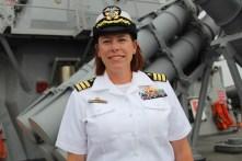 Comandantul navei USS Porter în Portul Constanța. FOTO Adrian Boioglu