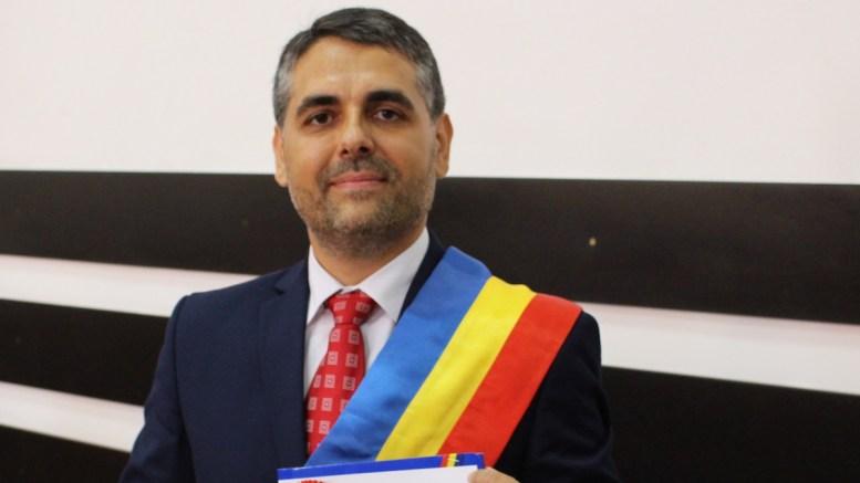 Marius-Liviu Petre, noul primar al comunei Peștera. FOTO Adrian Boioglu