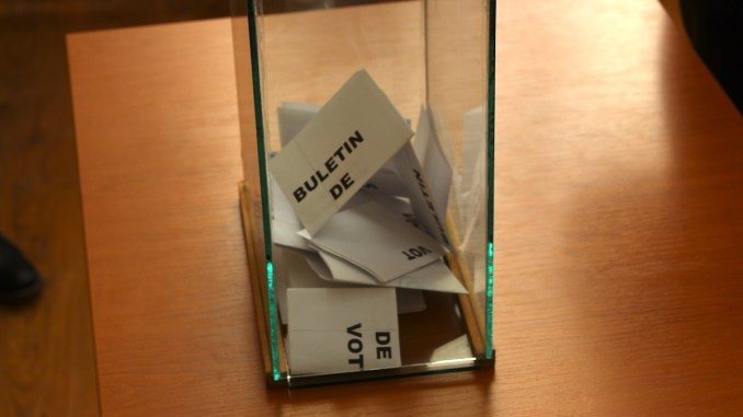 Urna de vot. FOTO Adrian Boioglu