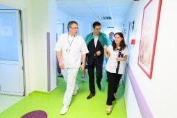 Cătălin Grasa și Horia Țuțuianu la Spitalul de Urgență Constanța