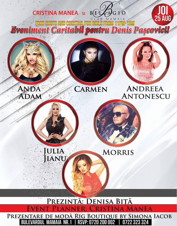 Concert caritabil în clubul Bellagio Mamaia