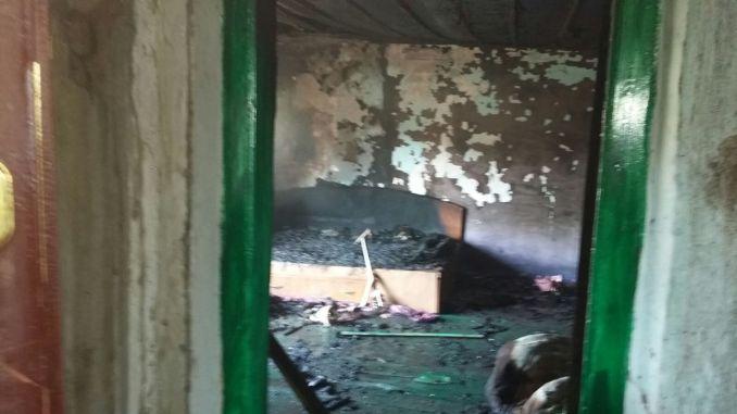 Incendiu la Hârșova. FOTO ISU Dobrogea