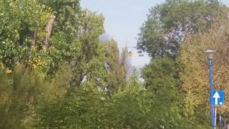 Incendiul e vizibil din Mamaia