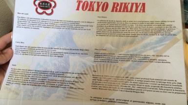 Descrierea produselor la Tokyo Rikiya Constanța. FOTO Adrian Boioglu