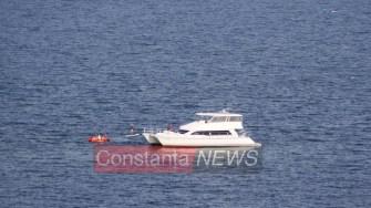 Yacht eșuat în apropiere de Constanța. FOTO Florin F.