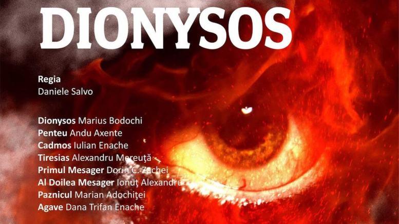 Afișul pentru Dionysos la Teatrul de Stat Constanța