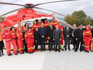 Echipa SMURD Constanța la inaugurarea Heliportului. FOTO Adrian Boioglu