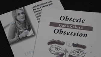 """Cartea """"Obsesie"""" semnată de Oana Calusa. FOTO Adrian Boioglu"""