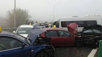 Accident în lanț pe autostrada A2