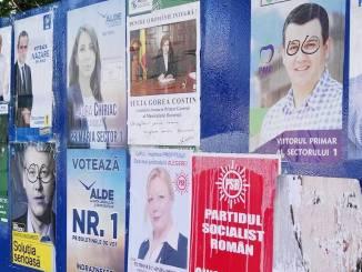 Panou electoral. FOTO europafm.ro
