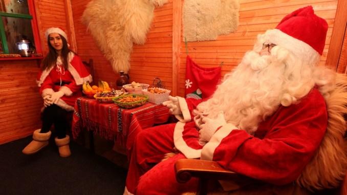 Moș Crăciun la Medgidia. FOTO Alexandru Bran