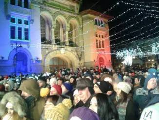 Revelionul din Piața Ovidiu. FOTO Jandarmeria Constanța
