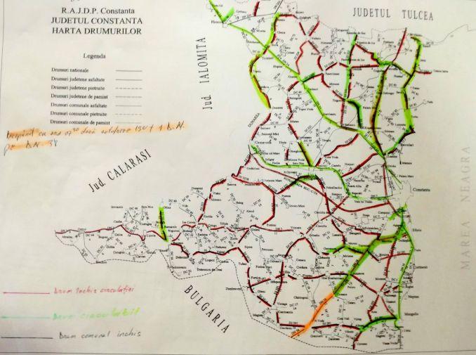 Drumuri închise în județul Constanța pe 8 ianuarie