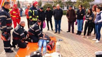 Exercițiu de Protecție Civilă. FOTO Primăria Medgidia / Arhivă