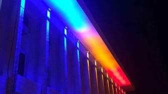 Consiliul Județean Constanța, iluminat tricolor. FOTO Facebook