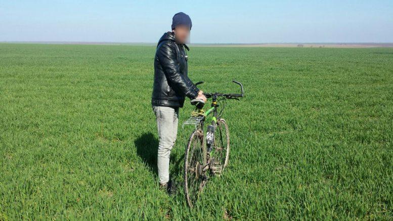 Trecere ilegala frontiera pe bicicleta