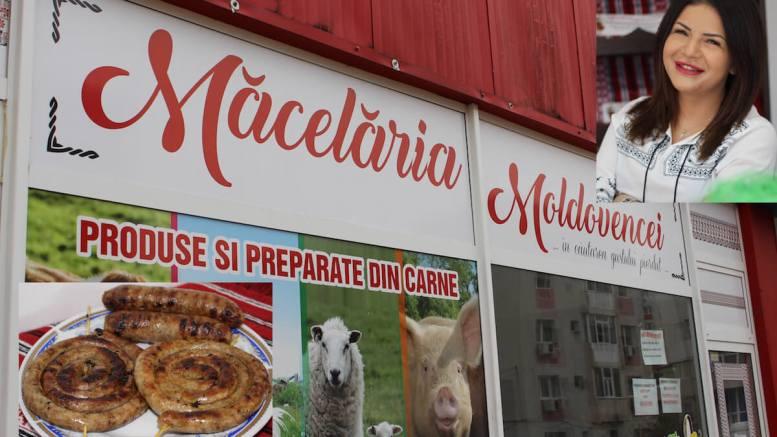 Măcelăria Moldovencei și Roxana Zaharia. FOTO Adrian Boioglu