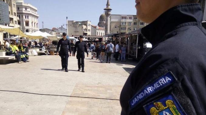 Patrula Jandarmi constanteni. FOTO: Jandarmeria Constanta