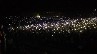 Lumini pe stadion la Festivalul DAPYX Medgidia. FOTO Adrian Boioglu