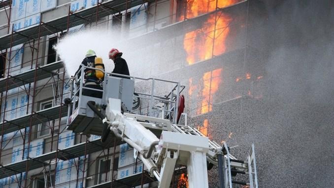 Incendiu Bloc de locuinte. FOTO: BCA CELCO