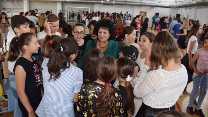 Primarul Mariana Gâju la Ziua Copilului la Cumpăna. FOTO Primăria Cumpăna