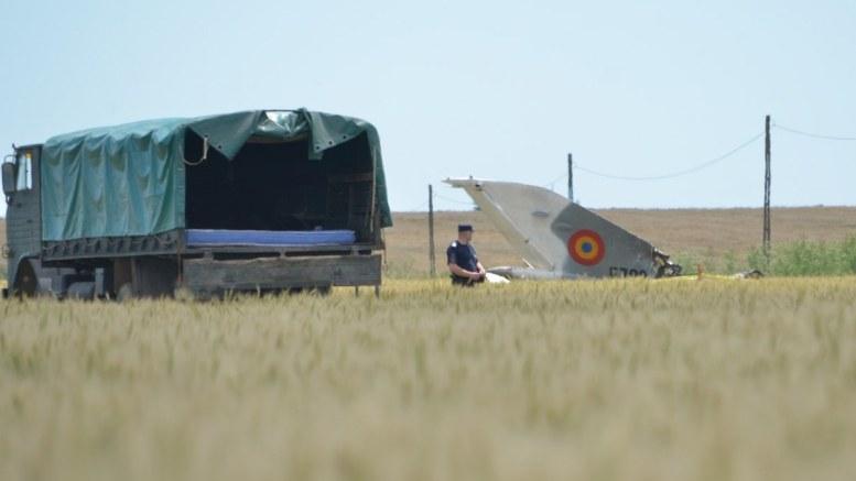 Avionul MIG 21 LanceR, prăbușit la Nazarcea. FOTO Cătălin Schipor