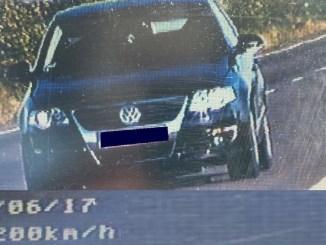 Șoferul prins de RADAR cu 200 km/h