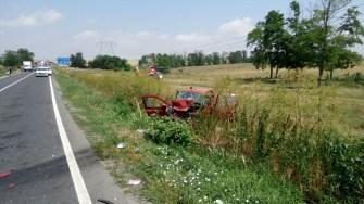 Accident rutier DN 22 Constanta - Tulcea. FOTO ISU Dobrogea