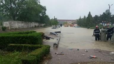Zona centrală din Cernavodă a fost acoperită de ape