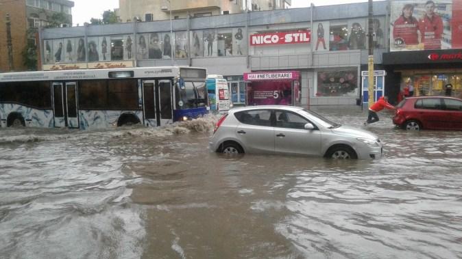 Zona Dacia a fost afectată de ploile abundente