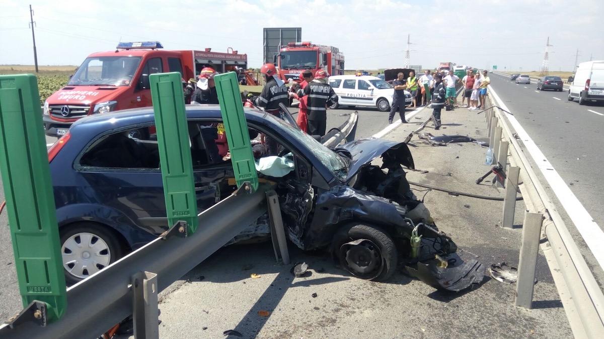 Accident rutier pe Autostradă