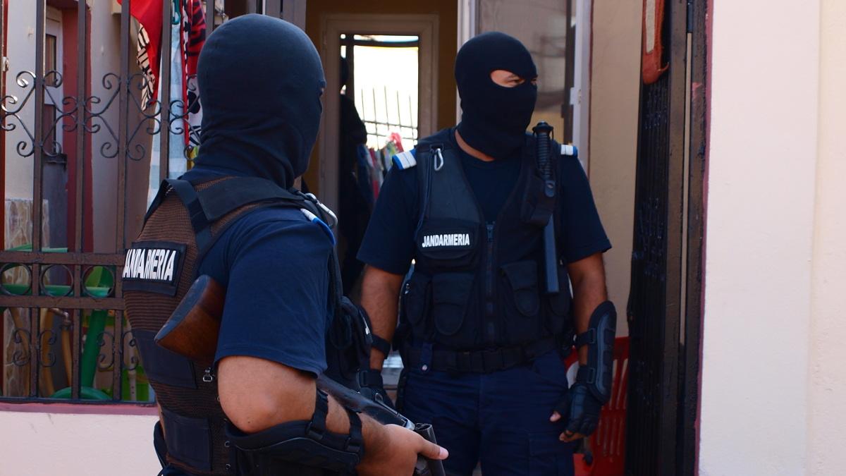 Jandarmii din trupele apeciale ale Grupării Mobile Tomis