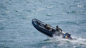 Ambarcatiune de tip RIB a Fortelor Navale Romane la Ziua Marinei 2017. FOTO Cătălin Schipor