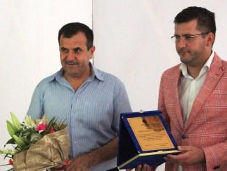 Primarul Valentin Vrabie și prefectul Ioan Albu. FOTO Adrian Boioglu