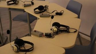 Dotări în laboratorul de Fonetică la Liceul Anghel Saligny din Cernavodă. FOTO Adrian Boioglu
