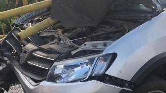 O femeie a scăpat ca prin minune cu viata dintr-un accident rutier